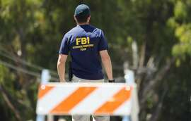 An FBI agentin Gilroy, California.