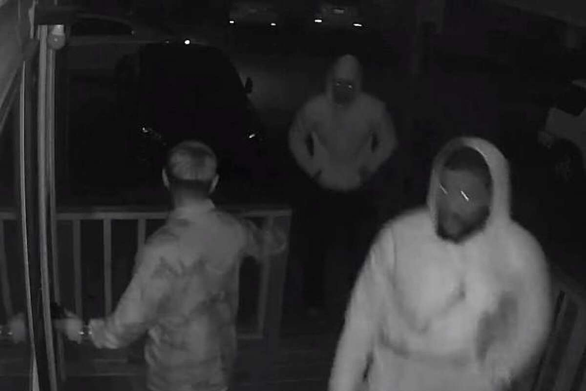 The Rosenberg Police Department is asking for the public's help in identifying two murder suspects shown in this video still from a security camera on Feb. 19, 2021.