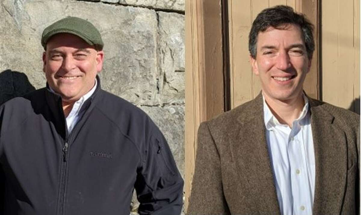 Shawn Raymond, left, and Ben Baskin run for Ballston Spa Board of Trustees. Candidate Robert Bush, Jr. tried to have them removed from the ballot.