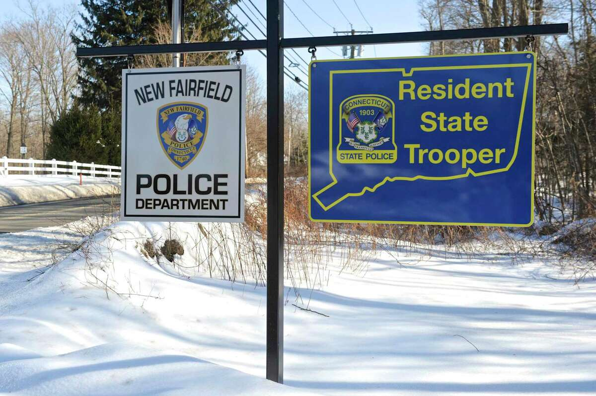The New Fairfield Police Department in New Fairfield, Conn.