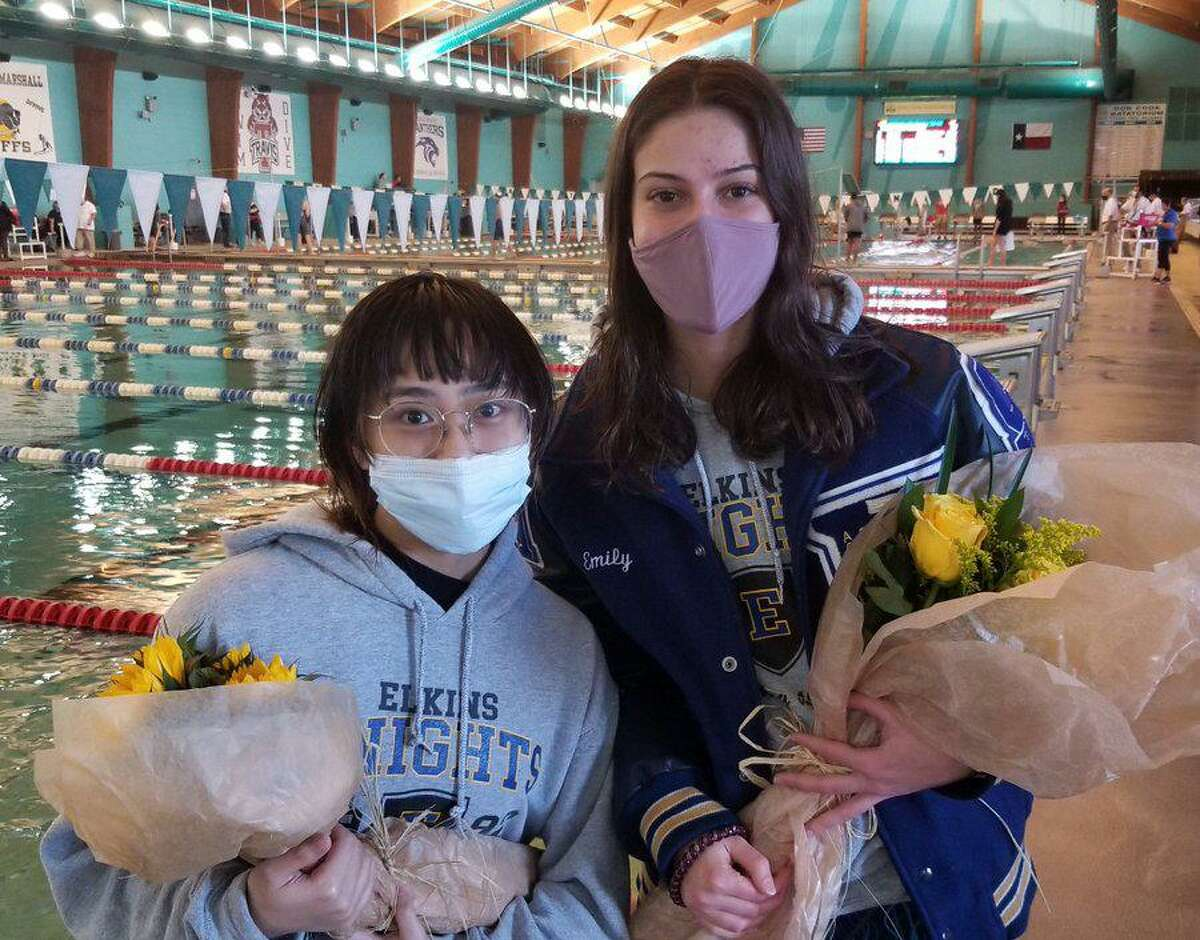 Elkins swimmers Emily Kroger and Amelie Grace Cabergas were among the standout scholars selected for the Texas High School Coaches Association all-state academic swimming team.