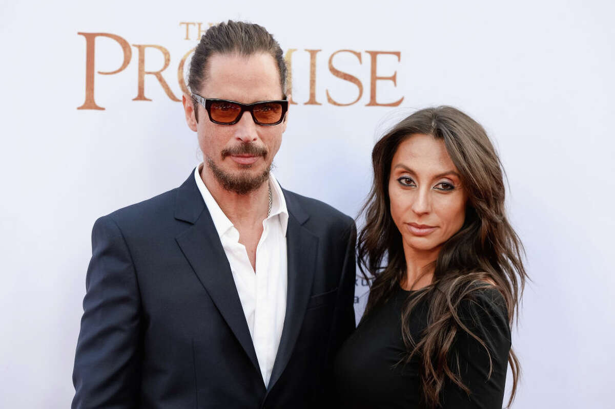 HOLLYWOOD, CA - APRIL 12: Musician Chris Cornell and Vicky Karayiannis arrive to the Los Angeles premiere of 'The Promise' at TCL Chinese Theatre on April 12, 2017 in Hollywood, California. (Photo by Tara Ziemba/Getty Images)