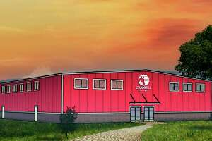 A rendering of CranHill Ranch's new Ministry Center shows what the building will look like once completed. A groundbreaking ceremony for the facility took place Sunday. (Courtesy photo)