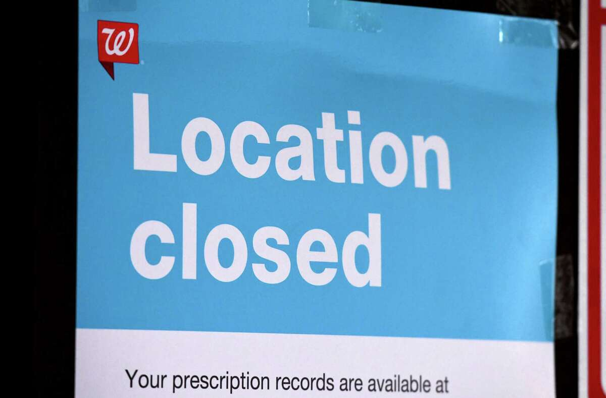 A closed sign is posted at the N. Pearls Street Walgreens on Monday, Feb. 22, 2021, in Albany, N.Y. (Will Waldron/Times Union)