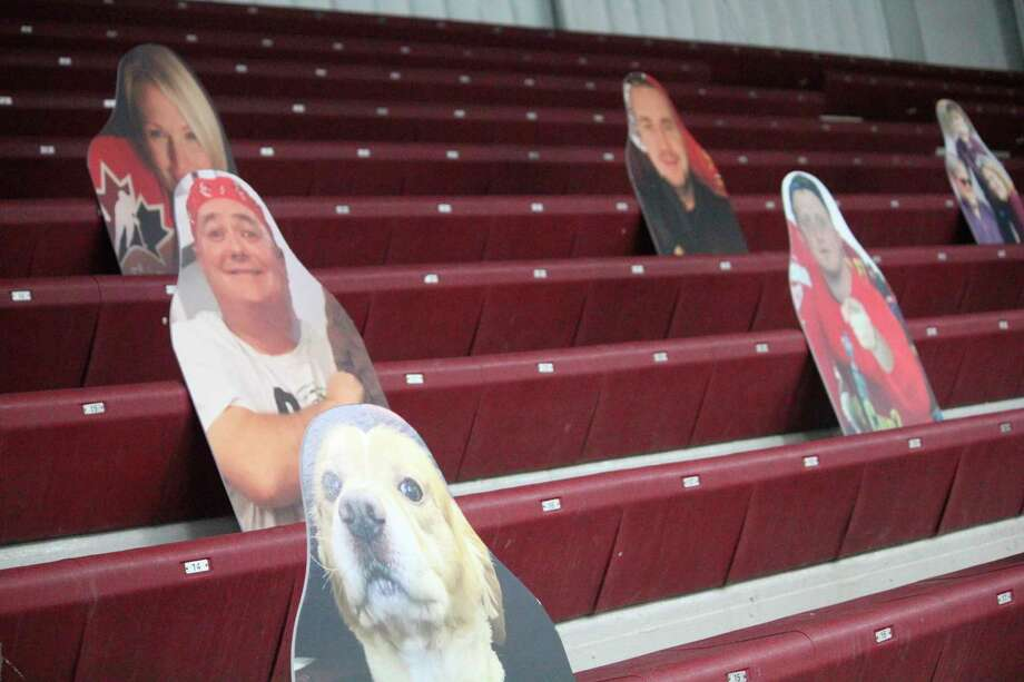 Cut outs continue to be popular with a limit of fans at games. (Pioneer photo/John Raffel)