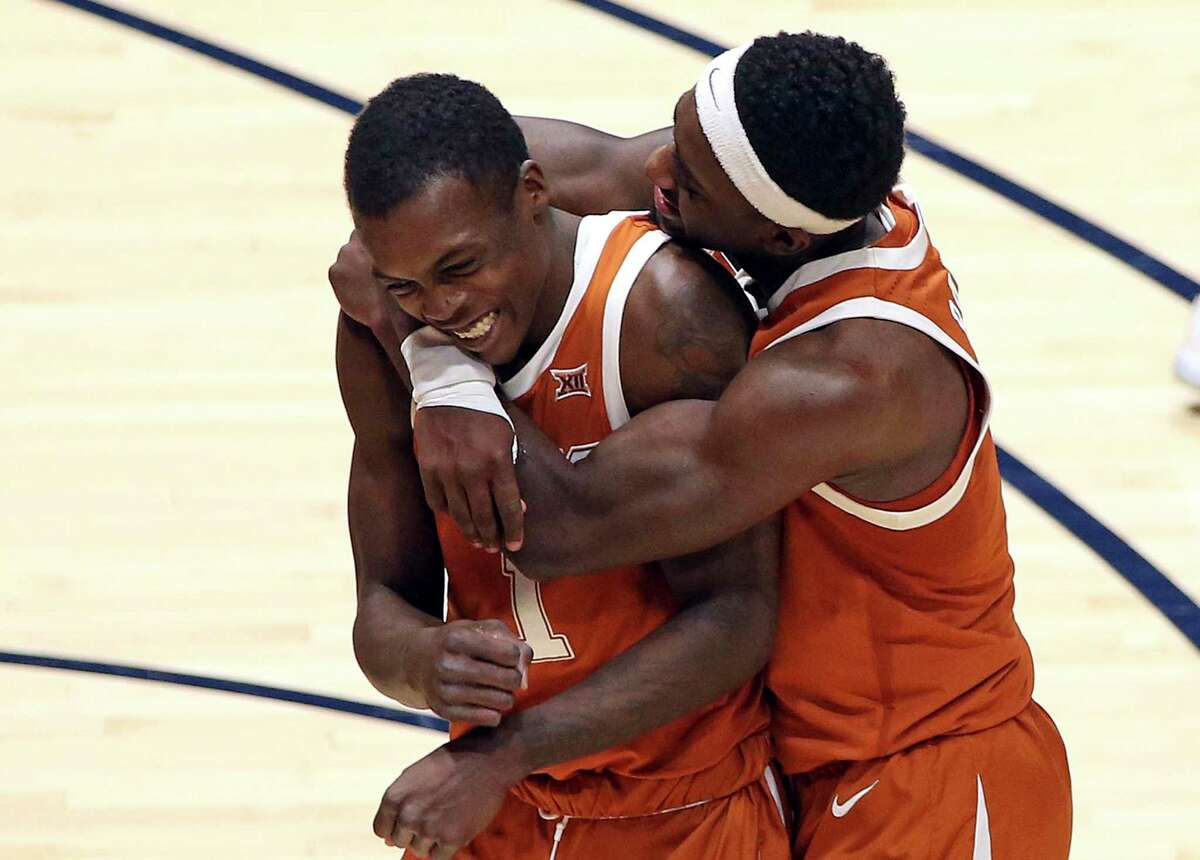 Guards Andrew Jones, left, and Courtney Ramey have been UT teammates for the last three seasons.