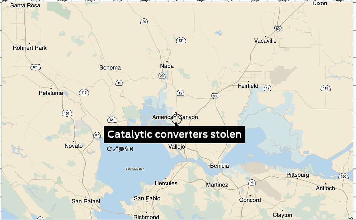 A single U-Haul lot in American Canyon (Napa County) was targeted twice by catalytic converter thieves in the span of a few days.
