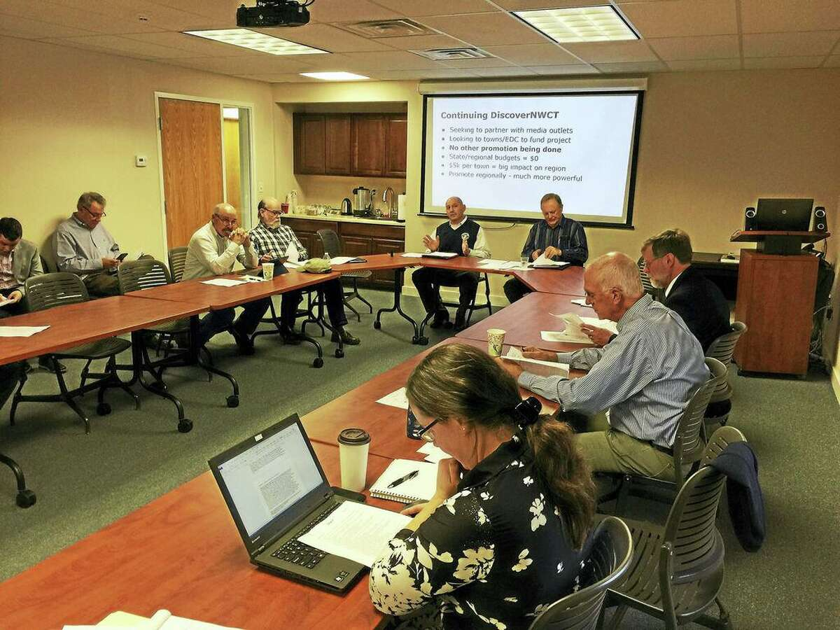In this file photo, Robert Rubbo, director of health with the Torrington Area Health District, speaks to the Northwest Hills Council of Governments in Goshen.