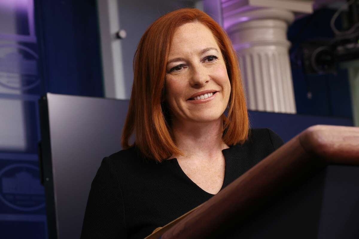 WASHINGTON, DC - FEBRUARY 01: White House Press Secretary Jen Psaki talks to reporters during her daily news briefing at the White House February 01, 2021 in Washington, DC. (Photo by Chip Somodevilla/Getty Images)