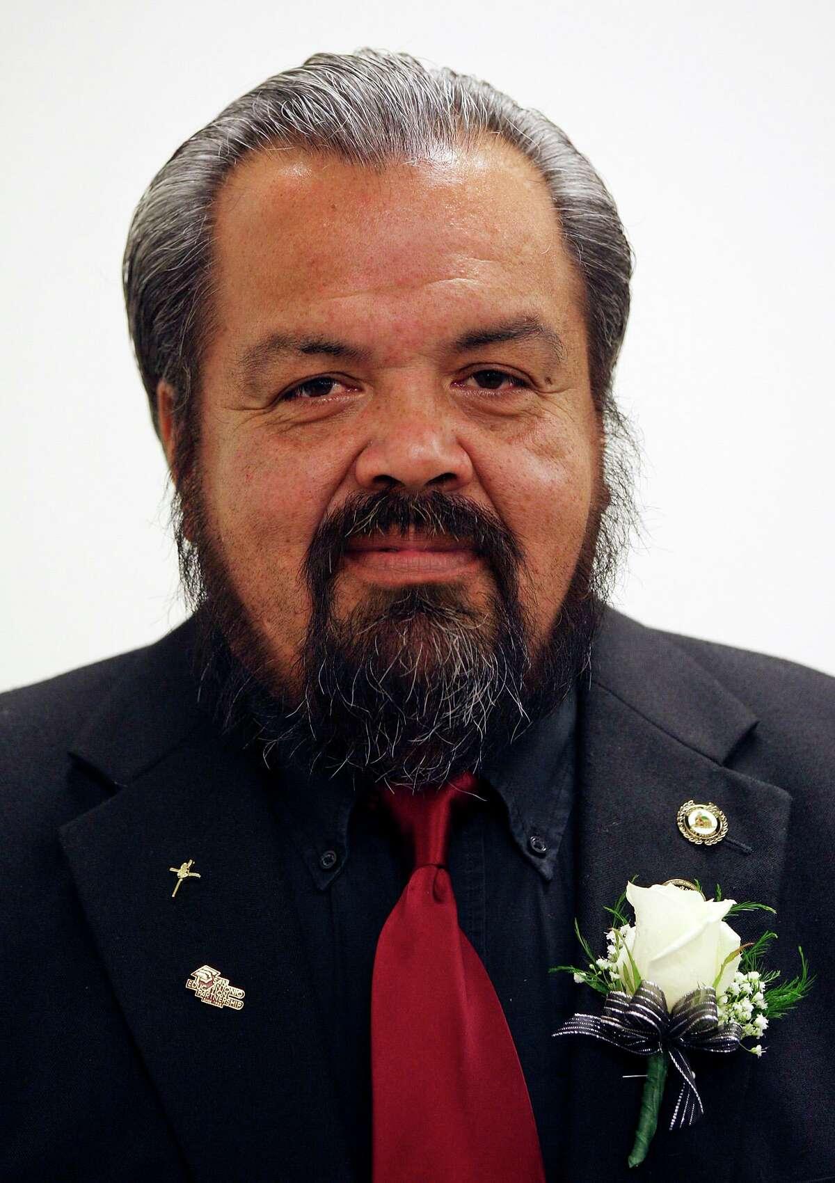 "Harlandale ISD trustee Esequiel""(Zeke"" Mendoza in 2011, when he was the board's vice president."