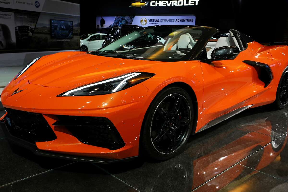 """CHICAGO - FEBRUARY 06: 2020 Chevrolet Corvette is on display at the 112th Annual Chicago Auto Show at McCormick Place in Chicago, Illinois on February 6, 2020. (Photo By Raymond Boyd/Getty Images)""""n"""