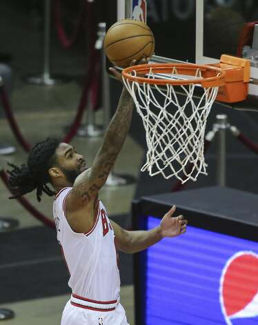 Chicago Bulls forward Patrick Williams (9) scores a basket during the first quarter of a NBA game against the Houston Rockets Monday, Feb. 22, 2021, at Toyota Center in Houston. Photo: Yi-Chin Lee/Staff Photographer / © 2021 Houston Chronicle