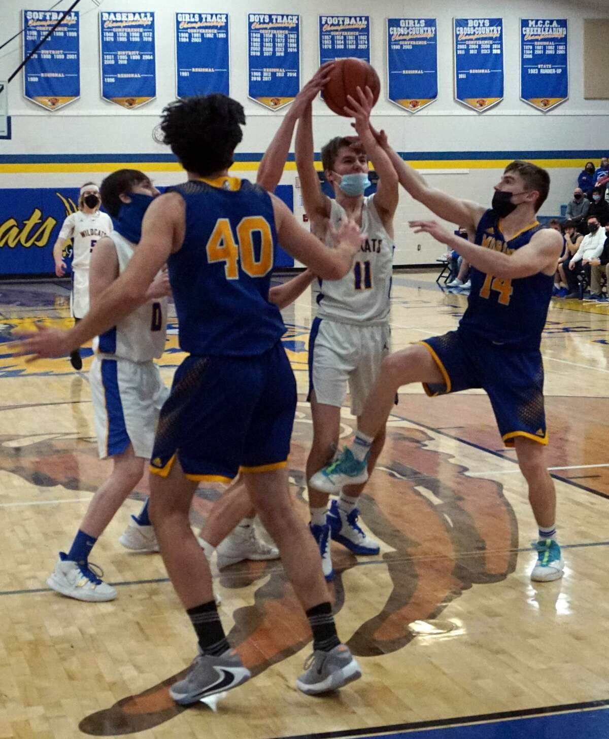 The Morley Stanwood and Evart boys' basketball teams faced each other on Monday evening, with Morley Stanwood emerging victorious 67-34.