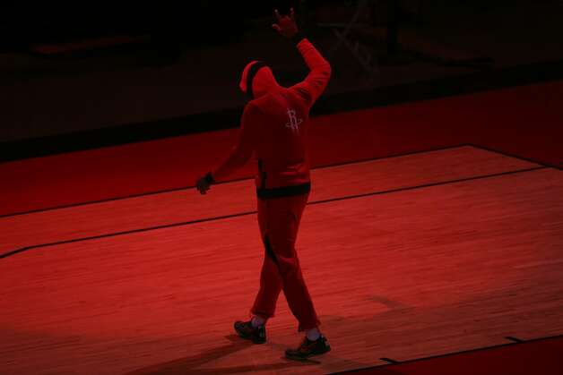 Houston Rockets guard John Wall (1) is introduced before a NBA game against the Chicago Bulls Monday, Feb. 22, 2021, at Toyota Center in Houston. Photo: Yi-Chin Lee/Staff Photographer / © 2021 Houston Chronicle