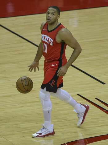Houston Rockets guard Eric Gordon (10) dribbles during the second quarter of a NBA game against the Chicago Bulls Monday, Feb. 22, 2021, at Toyota Center in Houston. Photo: Yi-Chin Lee/Staff Photographer / © 2021 Houston Chronicle