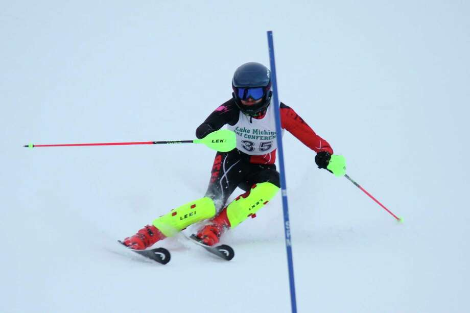 Quincy Thayer finished first team all-state in both the slalom and the giant slalom. (Record Patriot file photo)