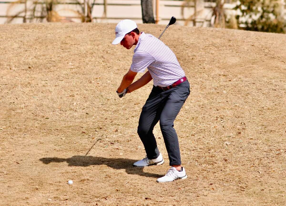 Texas A&M leads Texas by two strokes after the opening day of the Border Olympics on Monday at the Laredo Country Club.