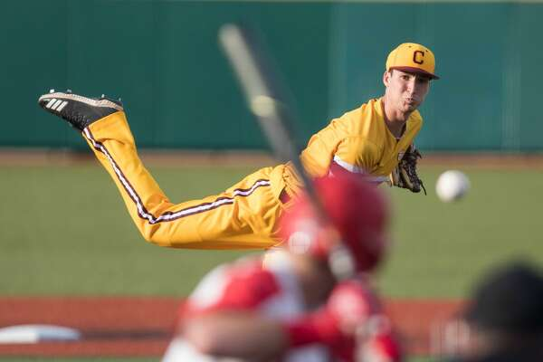 Midland High alum Jordan Patty pitches for Central Michigan in this undated photo.