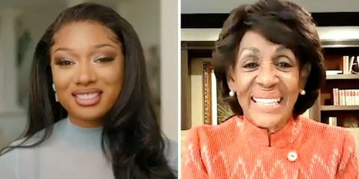 Screenshot from online conversation between Megan Thee Stallion and Rep. Maxine Waters.