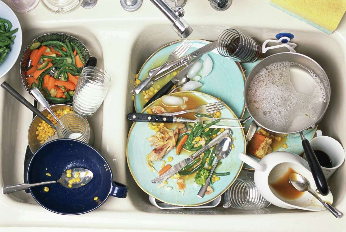 No water or electricity meant more dishes.