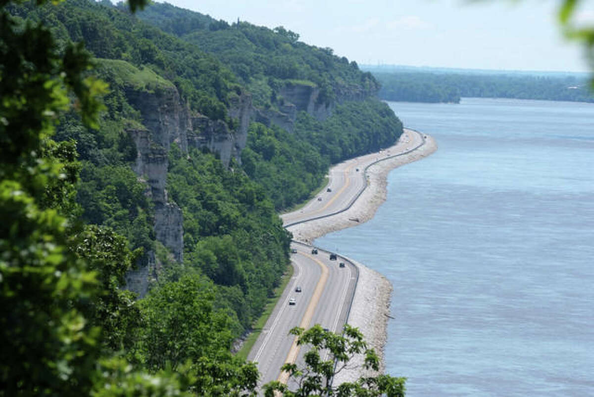 """The Illinois Great River Road, which includes the local Meeting of the Great Rivers National Scenic Byway, has been designated an """"All-American Road"""" by the Federal Highway Administration. The Meeting of the Great Rivers National Scenic Byway is a 33-mile stretch included in the Illinois Great River Road, which runs from Hartford to just north of Grafton and parallels the Mississippi River and includes its confluence with the Missouri River and the Illinois River."""
