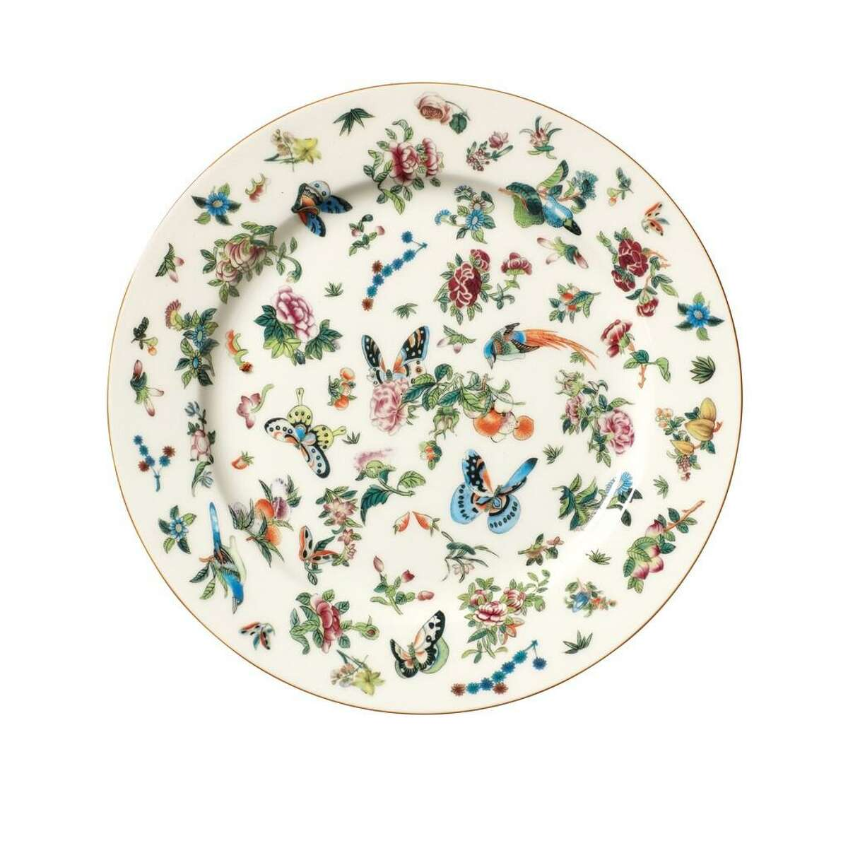 British home goods store OKA is expanding to the U.S. and a shop will open in April 2021 in the storefront on West Alabama that once housed Wisteria. Its inventory includes Adam Lippes collection for OKA, with these Roseraie dishes.