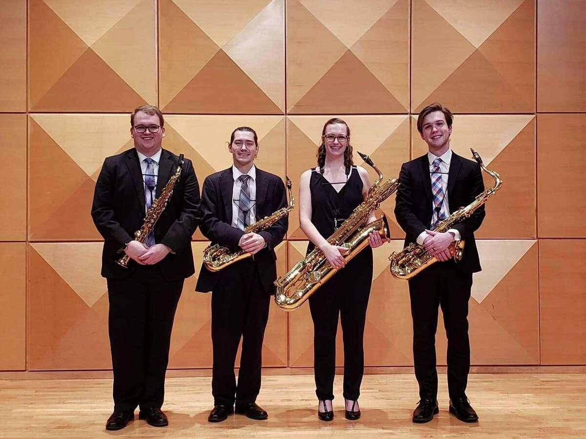 The Apex Saxophone Quartet, a student ensemble from Central Michigan University, led the 2021 Lenten Concert Series at Memorial Presbyterian Church. (Photo provided)