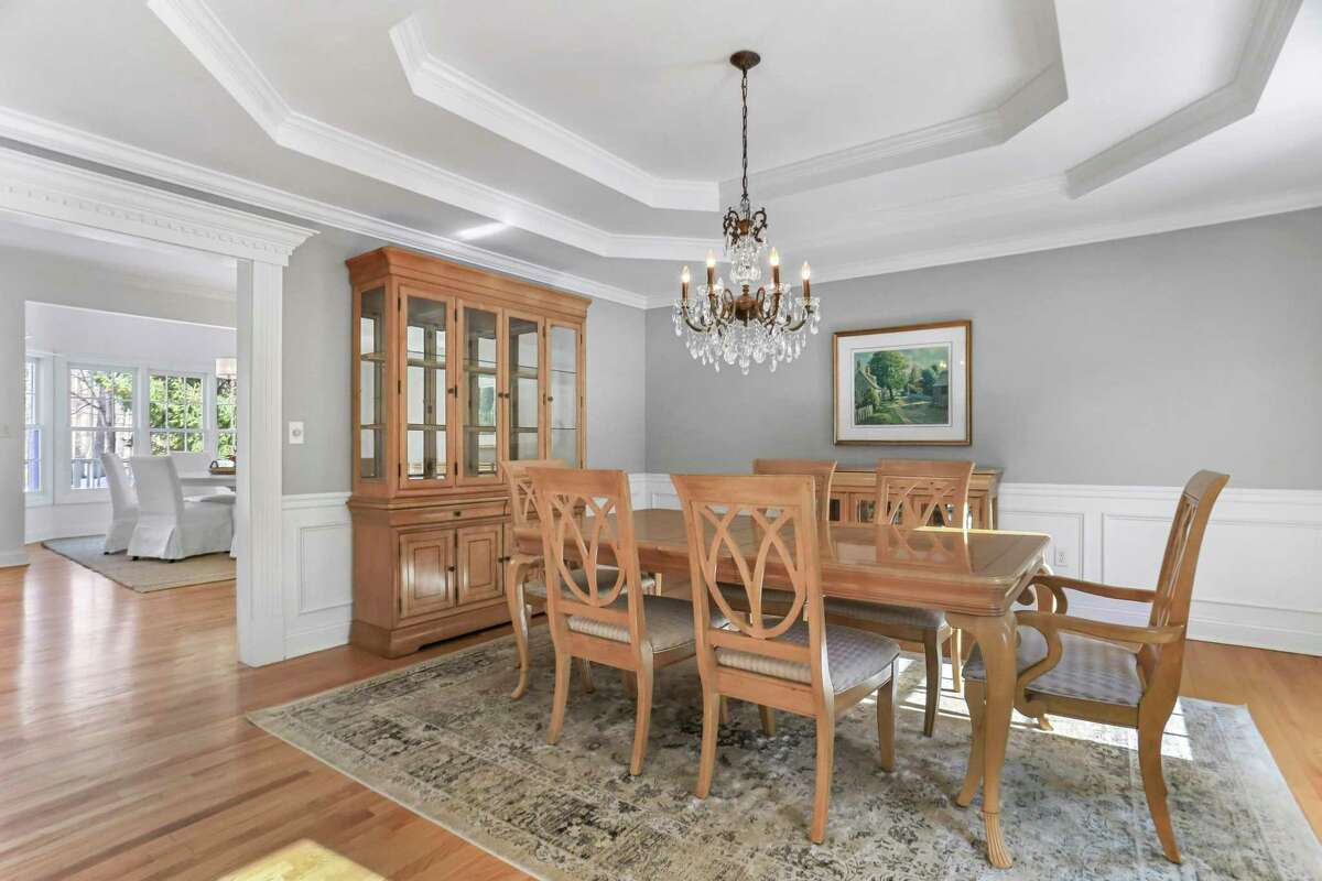 Formal dining room at 8 Canterbury Lane, Easton.