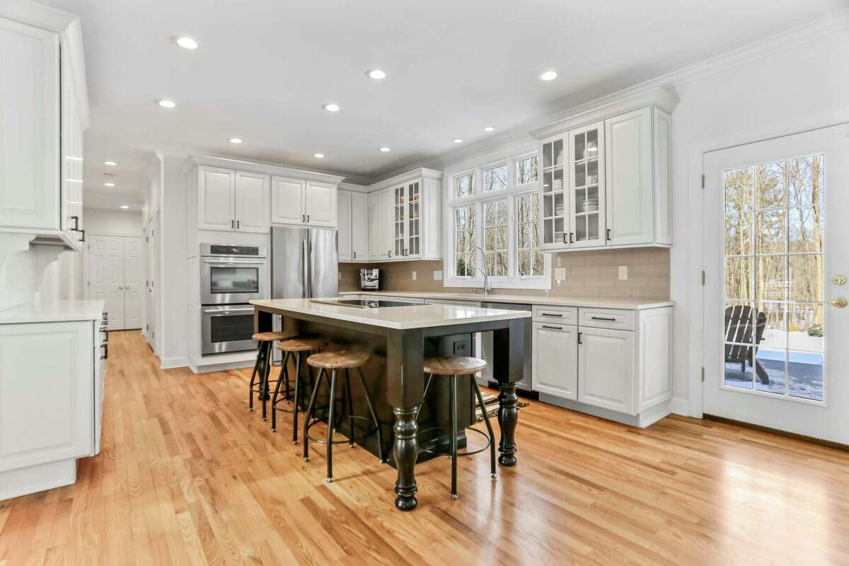 Recently updated gourmet kitchen at 8 Canterbury Lane, Easton.