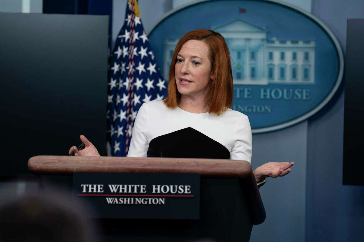 White House press secretary Jen Psaki speaks during a press briefing at the White House, Tuesday, Feb. 23, 2021, in Washington.