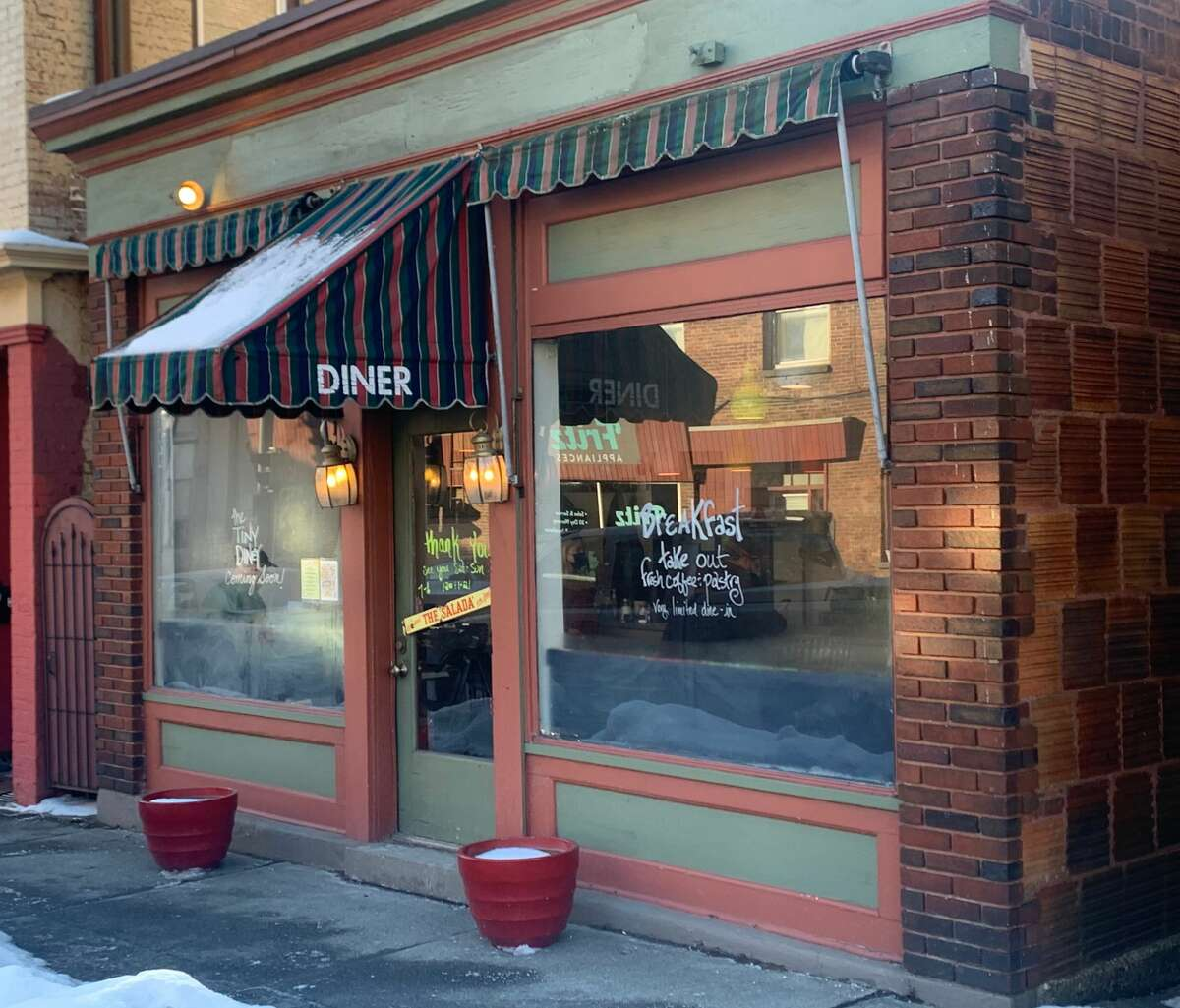 The Tiny Diney, in the small Cohoes building that has been a diner for a century, opened in mid-February. (Steve Barnes/Times Union.)