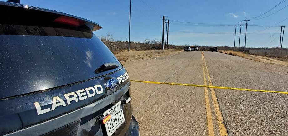 Laredo police closed off an area where Clark Boulevard ends, east of Loop 20 where a body was found. An investigation is underway. Photo: Courtesy / Laredo Police Department