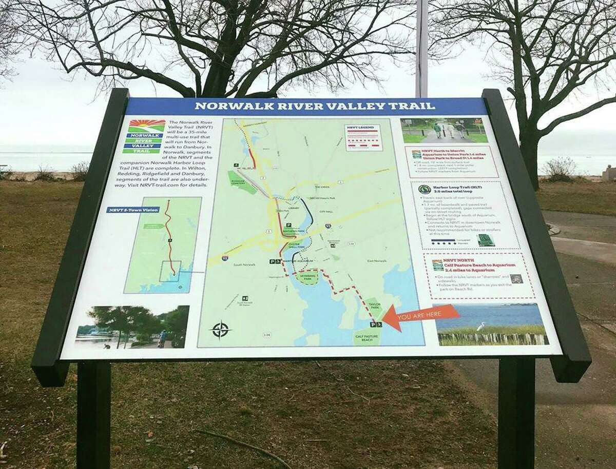 The 30-mile Norwalk River Valley Trail (NRVT) is a work in progress, with some sections already in use. When completed, it will connect Calf Pasture Beach in Norwalk with Rogers Park in Danbury, passing through Wilton, Ridgefield and Redding on the way.