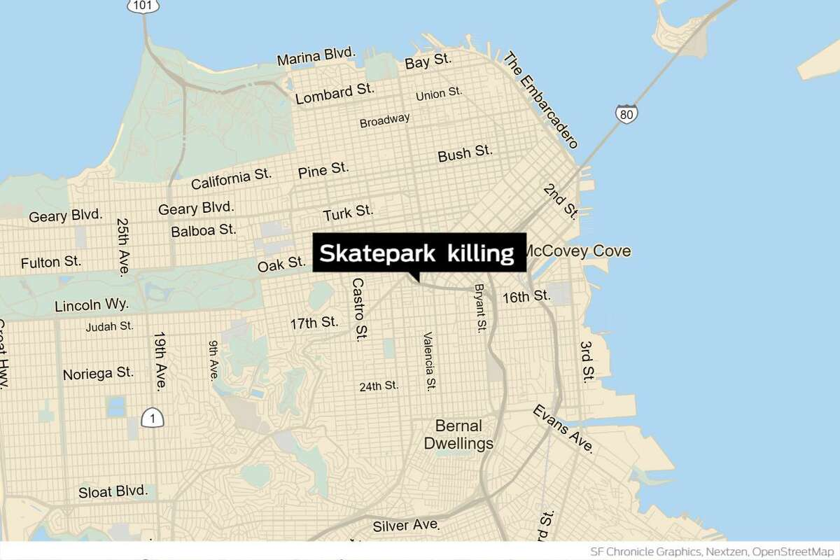 A 24-year-old man died and a suspect was arrested Monday after an altercation at the SoMa West Skatepark at Duboce Avenue and Otis Street at about 8:30 p.m, after callers reported a stabbing.