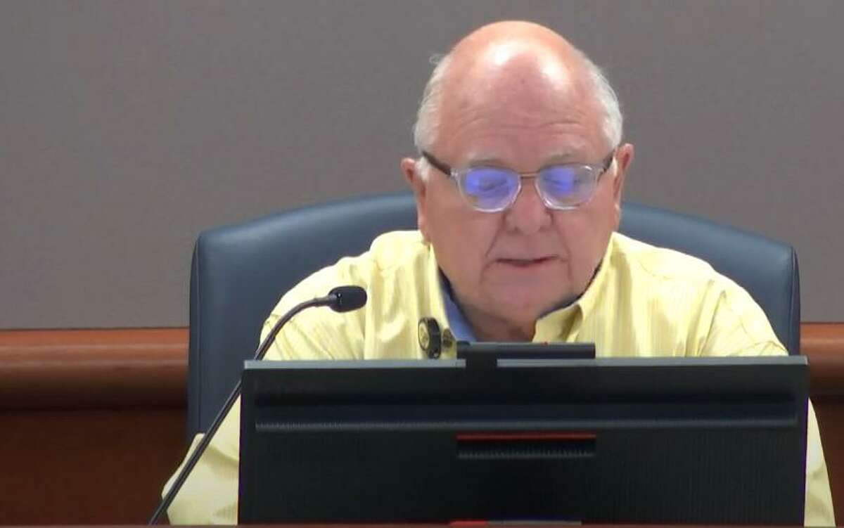 Cy-Fair ISD board of trustees president Bob Covey led the special meeting on Feb. 23 concerning the winter storm