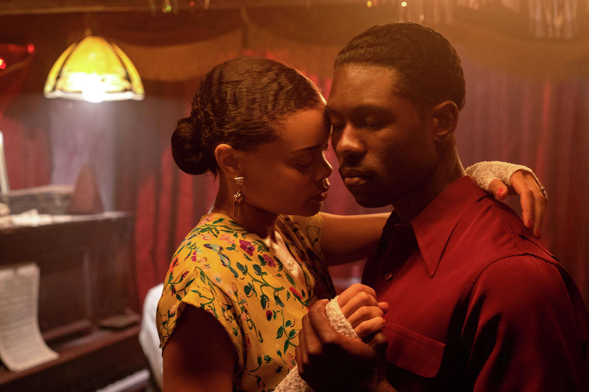 """Andra Day, left, and Trevante Rhodes in """"The United States vs. Billie Holiday."""""""