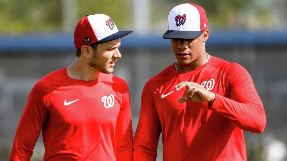 Trea Turner and Juan Soto, shown in 2020, could be long-term franchise cornerstones for the Washington Nationals. Photo: Washington Post Photo By Jonathan Newton / The Washington Post