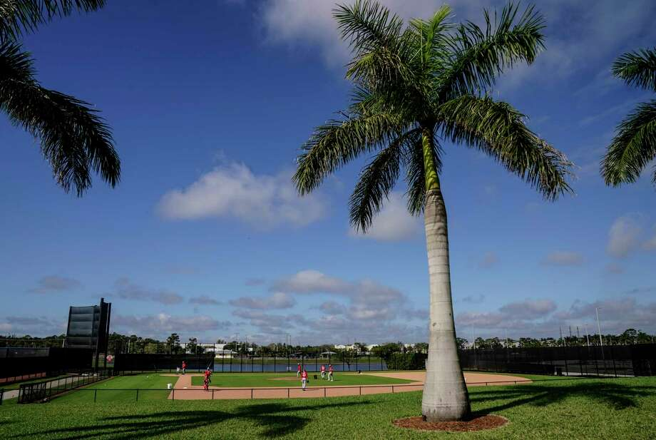 The Washington Nationals practice at the team's facility at The Ballpark of the Palm Beaches in West Palm Beach, Fla., on Tuesday, Feb. 23, 2021. Photo: Washington Post Photo By Toni L. Sandys / The Washington Post