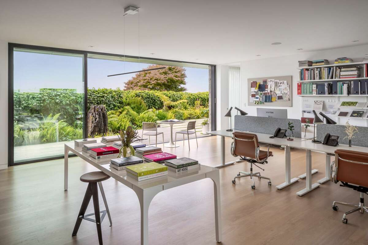 The huge work from home studio on the ground floor was another key selling point.