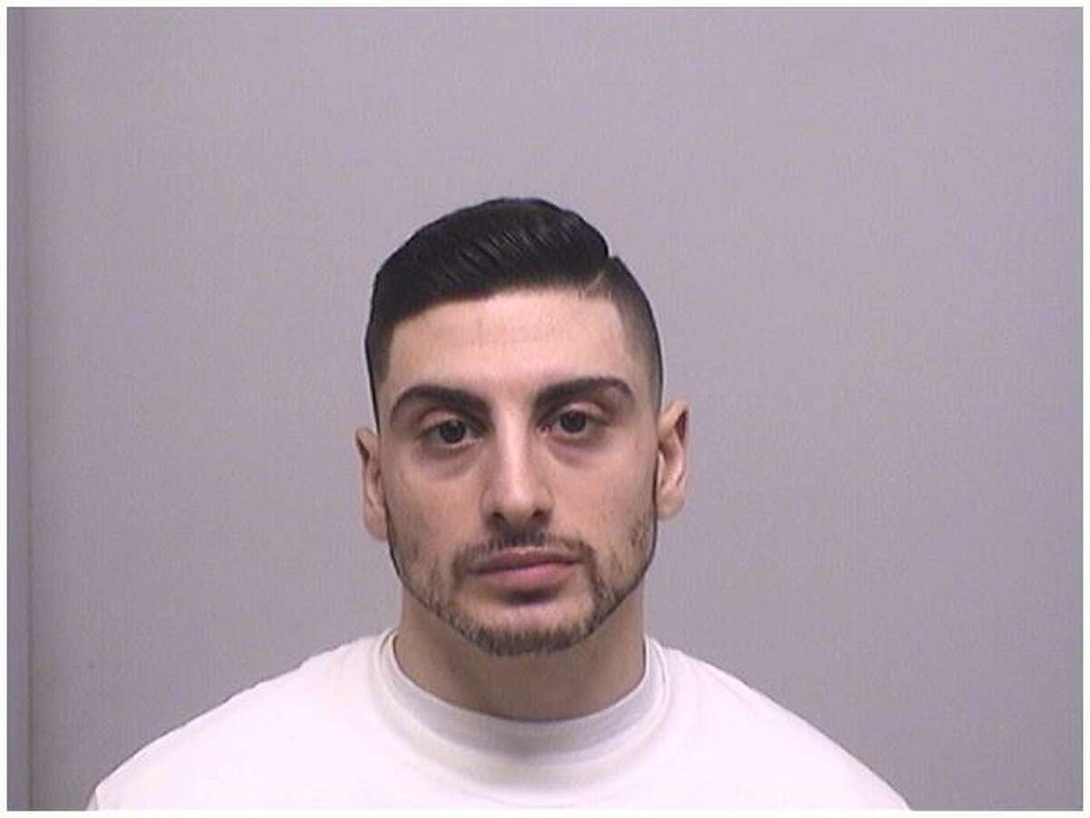 Peter Didonato Jr., 28, of Stamford, was charged with 59 counts of violating a judge's protective order and harassment for contacting a person he was involved with in a domestic violence incident in Stamford last year.