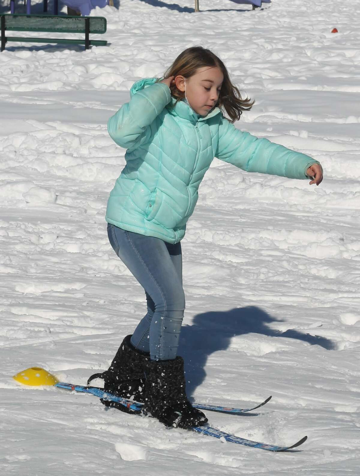 Elementary students at Bear Lake Schools enjoy cross-country ski lessons thanks to Crystal Mountain's Nordic Rocks program. Students went through drills, relay races and games to familiarize themselves with the sport.