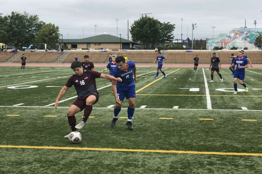 TAMIU allowed a goal just before the buzzer Tuesday as it fell 2-1 in its season opener against UT Permian Basin. Photo: Courtesy /TAMIU Athletics