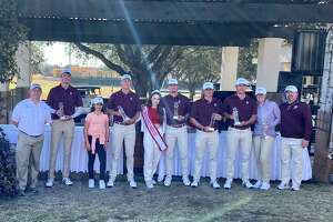 Texas A&M was the only group in the 18-team field to finish under par as the Aggies won the Border Olympics University Golf Tournament on Tuesday at the Laredo Country Club.