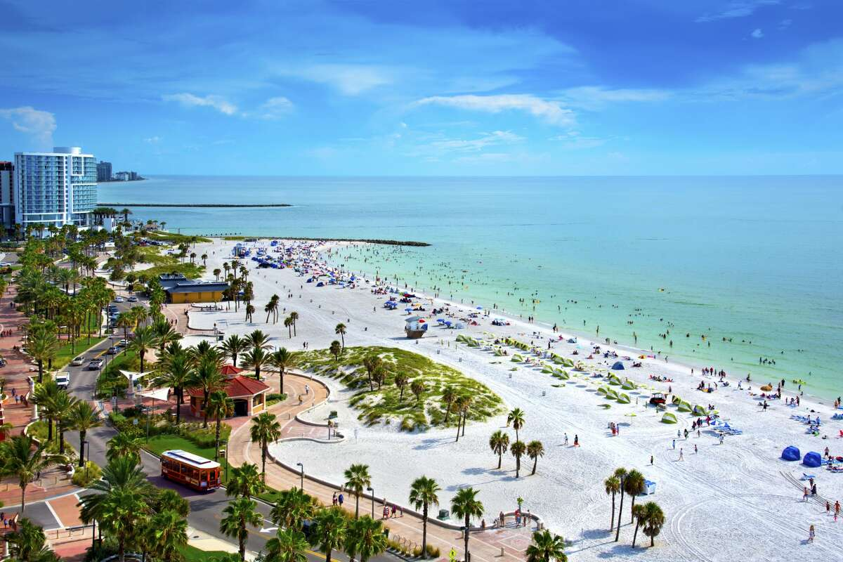 Clearwater Beach on the Gulf of Mexico is located on the west central coast of Florida. Clearwater has frequently been ranked one of the best beaches in the United States because of its white sand beaches and warm waters.