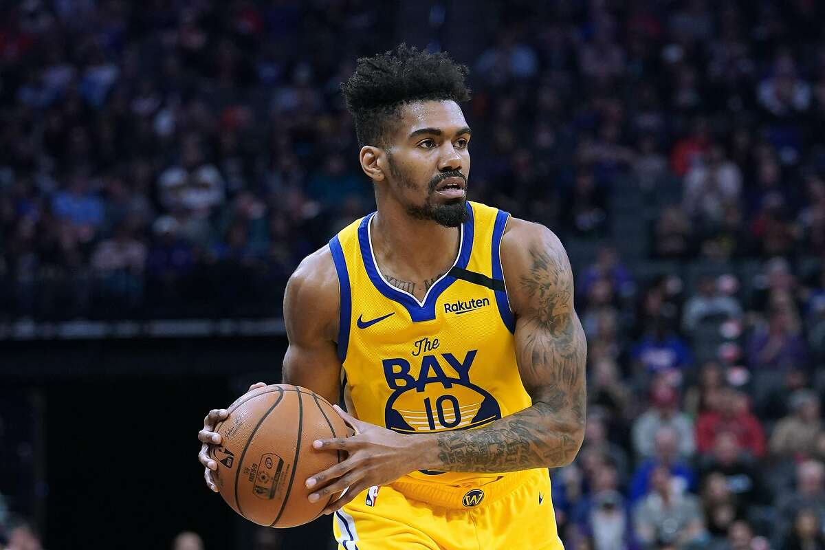 Jacob Evans, shown here with the Warriors in 2020, is back with the team that drafted him in the first round three years ago. He was traded to Minnesota last February but couldn't crack a crowded backcourt.