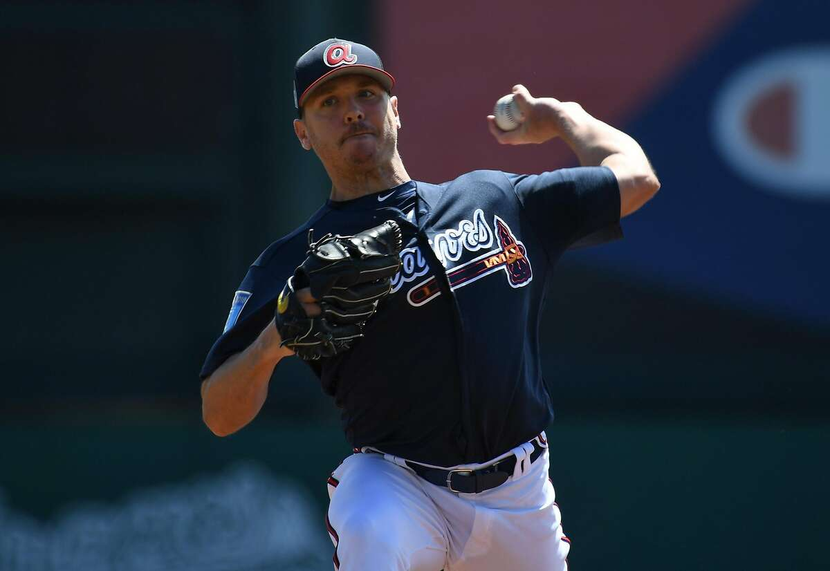 Scott Kazmir was last in a training camp with the Braves in 2018, but he asked for his release and never pitched for them.