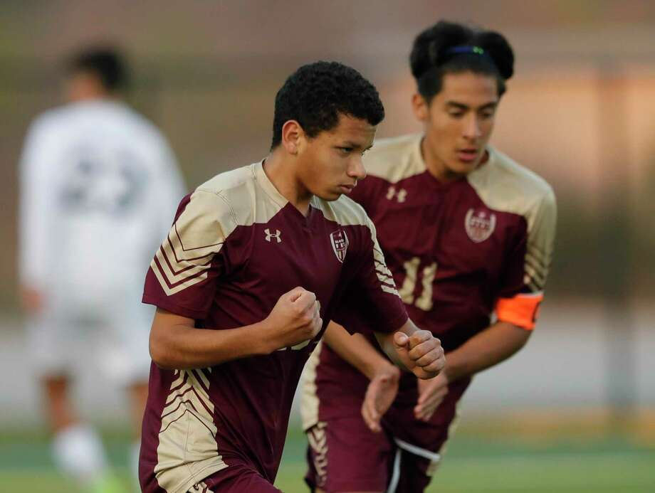 FILE — Magnolia West midfielder Jafet Ramirez (10) reacts after scoring a goal in the second period of a high school soccer match during the Kily Cup at Woodforest Bank Stadium, Friday, Jan. 3, 2020, in Shenandoah. Photo: Jason Fochtman, Houston Chronicle / Staff Photographer / Houston Chronicle © 2020
