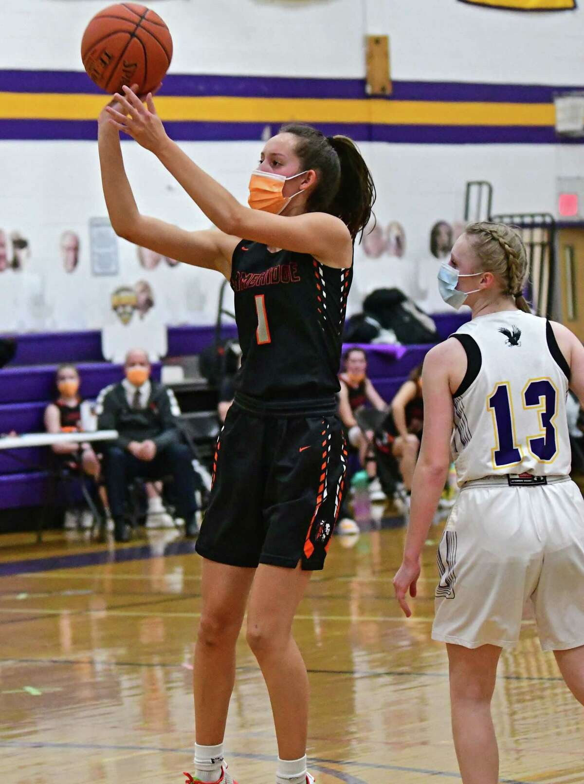 Cambridge's Lilly Phillips is the Times Union Small-School Girls' Basketball Athlete of the Year.(Lori Van Buren/Times Union)
