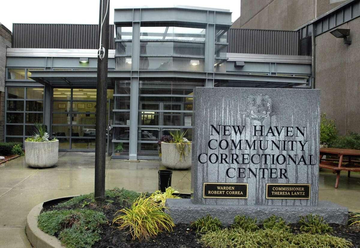 HVIZDAK ph722a # 3174 New Haven, Connecticut-11/15/07: New Haven Community Correctional Center main entrance.