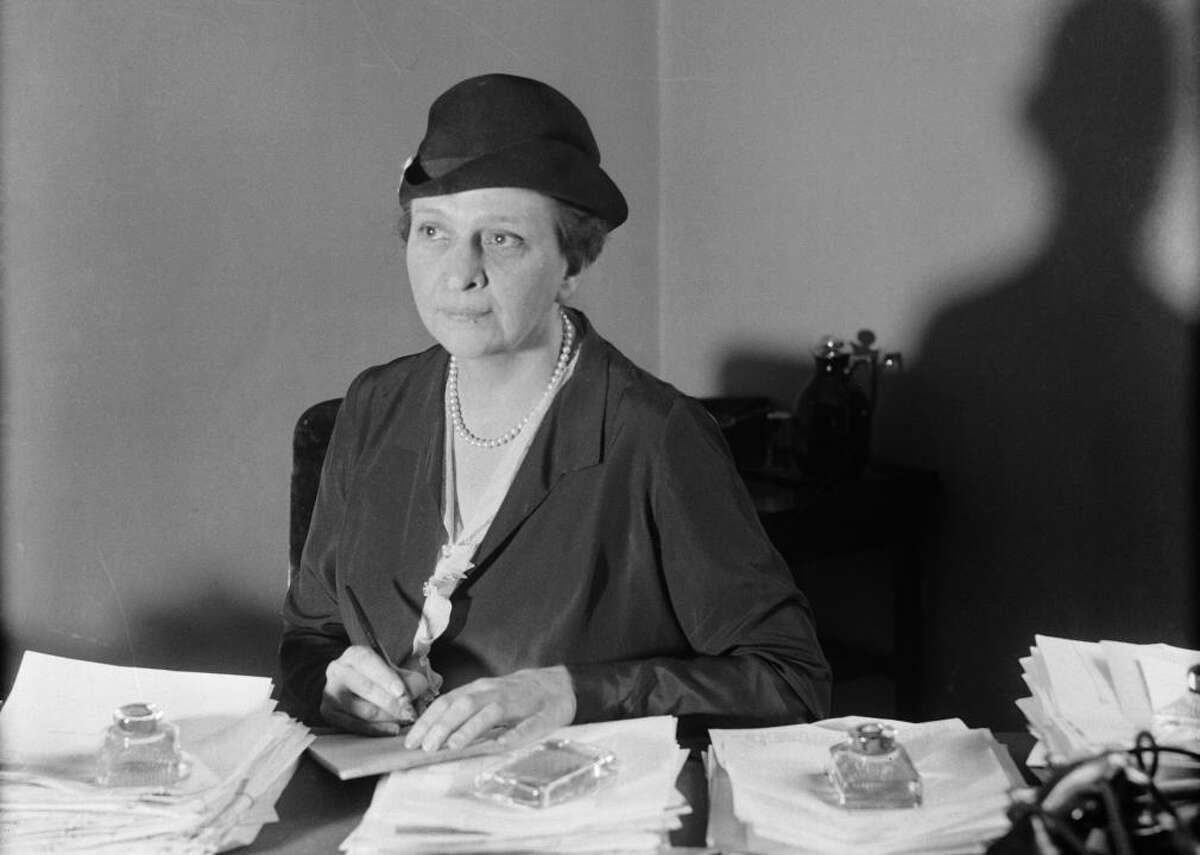 1933 - Women in office: 187 - Political party: 99 Democratic, 81 Republican, 4 nonpartisan, 3 other party - Level of government: 12 federal executive or Congress, 161 state legislature, 14 statewide executive, 0 D.C. or other territory legislature From her political beginnings as an executive secretary for the New York City Committee on Safety to her biggest role as Franklin D. Roosevelt's Secretary of Labor, Frances Perkins was one of the country's most vocal and influential female politicians in the '30s. Her federal appointment, which she held for 12 years, made her the first woman to serve in a presidential cabinet. During her time under Roosevelt, Perkins tackled many of the problems brought on by the Great Depression, and, most notably, drafted the legislation that led to the Social Security Act. [Pictured: Frances Perkins photographed at her office in the State Building, New York City in 1933.]